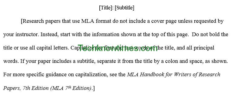 Mla Outline Template In Ms Word | Microsoft Office Templates