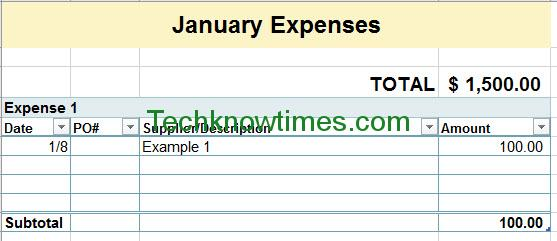 Monthly Expense Report Template  Monthly Expense Report