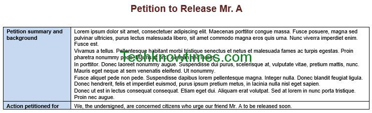 Petition Template In Ms Word | Microsoft Office Templates