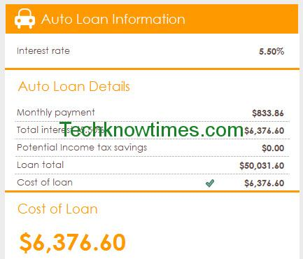 car loan amortization excel template