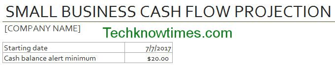 Cash Flow Forecast Excel Template