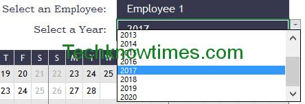 employee attendance sheet in excel for office