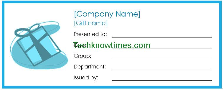 Employee Gift Certificate Template In Microsoft Word