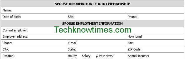 member registration form template word