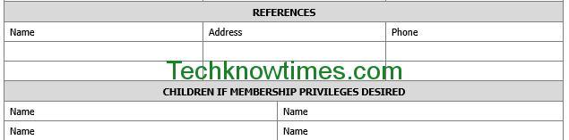 sample registration forms template