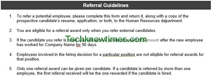 candidate referral form template
