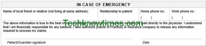patient registration form template pdf