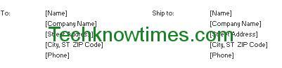 sales order format