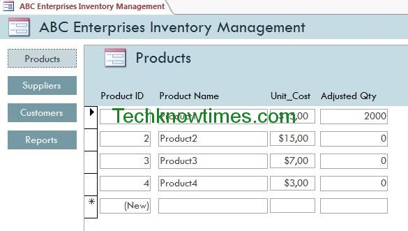 Access Database Templates Inventory-1